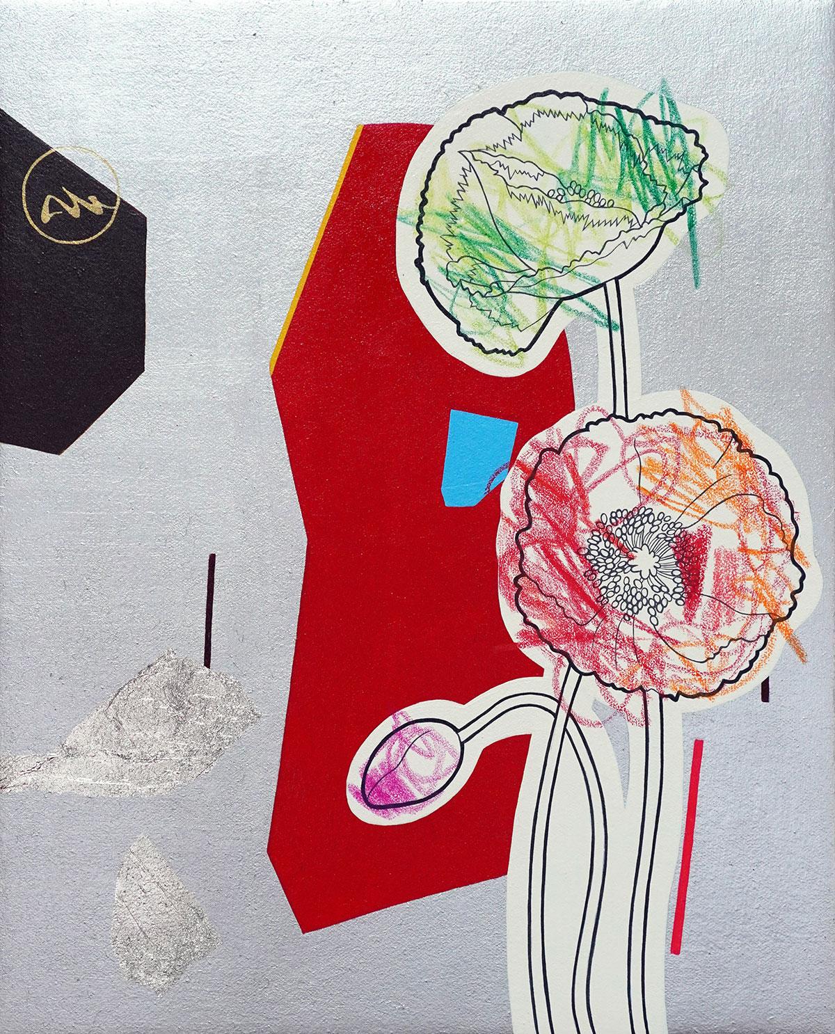 田中武 | 塗り絵「夜の芥子」