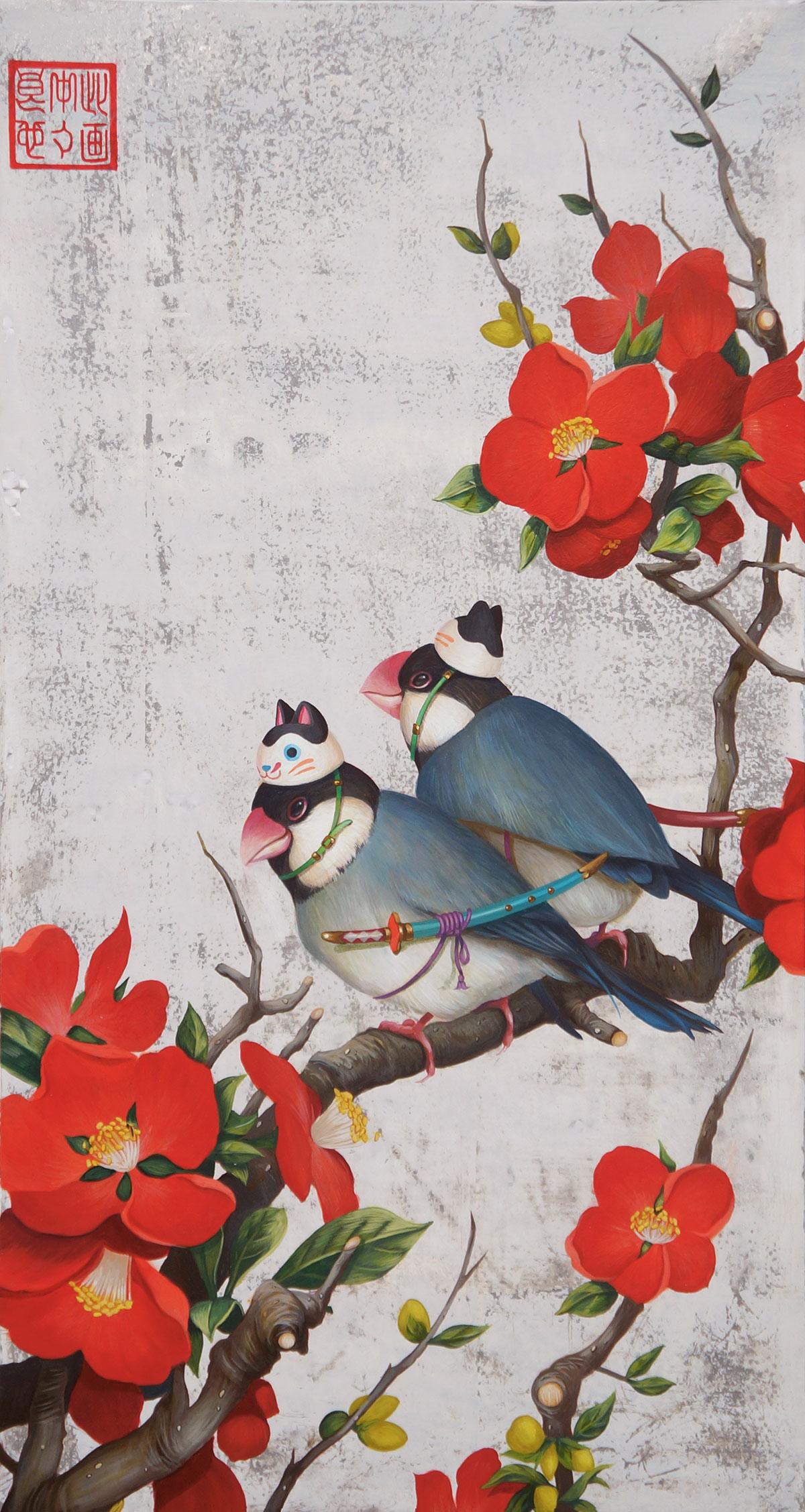 田中武 | 木瓜文鳥遊戯図